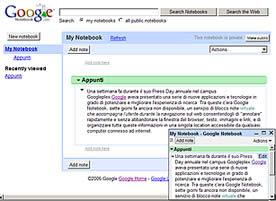 Google Notebook: Appunti Virtuali