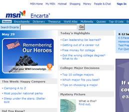 MSN Encarta vs Wikipedia