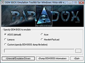 OEM BIOS Emulation Toolkit per Vista