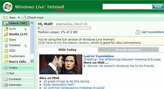 Live Hotmail  M10